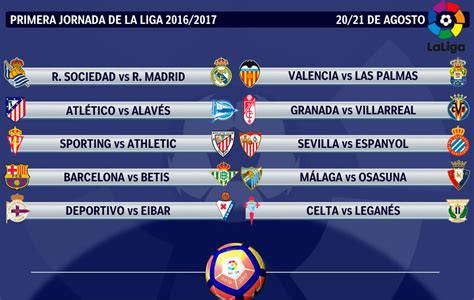calendario liga 2016 17 real sociedad real madrid y bar 231 a