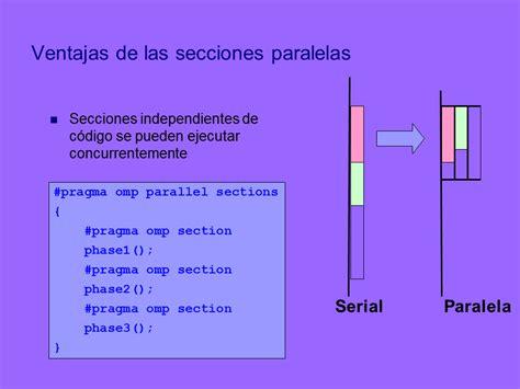 omp sections programaci 243 n paralela con memoria compartida p 225 gina 2