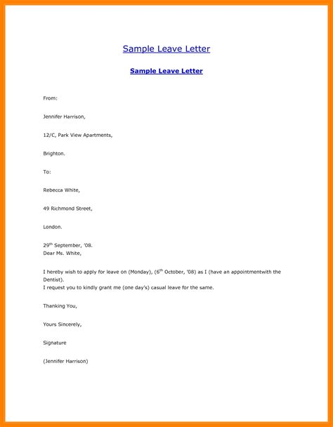 leave letter formats leave letter format employer best of 8 marriage leave