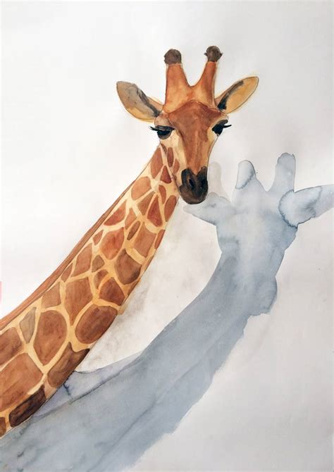 imagenes de jirafas tumblr acuarela jirafa serie animales g 50x70 elena calonje