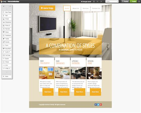 a website using godaddy s interior design website