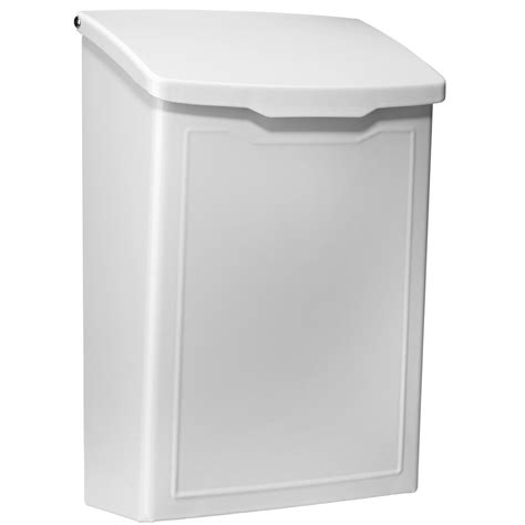 architectural mailboxes marina white wall mount mailbox