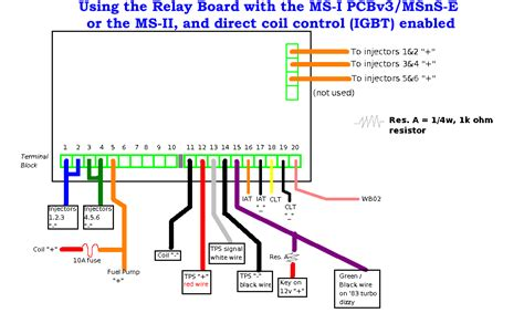 megasquirt relay board wiring schematic how to