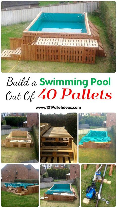 how to make a swimming pool in your backyard build a swimming pool out of 40 pallets 101 pallet ideas