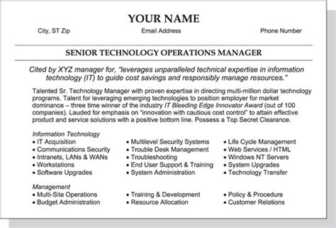 example of a good resume format samples of resumes