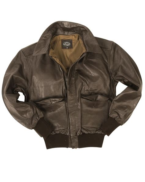 Sale Army Bomber Jacket mil tec a2 leather flight jacket classic army mens bomber brown ebay