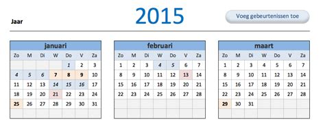 Calendar G Kalender 2015 G Info