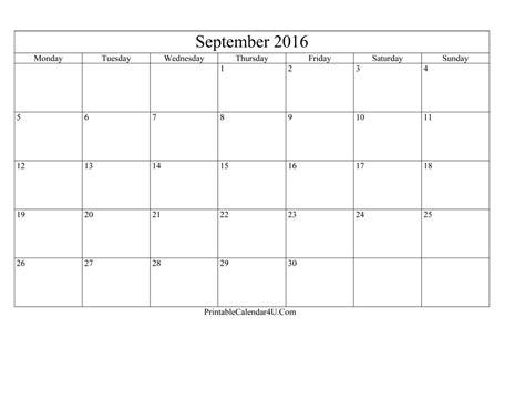 printable editable calendar january 2016 blank editable september 2016 calendar printable