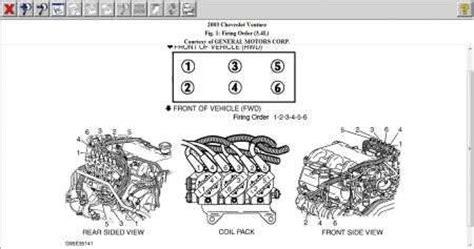 car engine manuals 2004 chevrolet impala head up display solved 2002 impala 3 4 spark plug wire diagram fixya