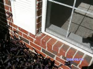 External Window Ledge Broken Exterior Brick Window Ledge Internachi Inspection