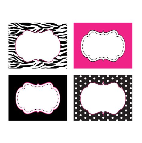 printable zebra print labels zebra diva printable food labels