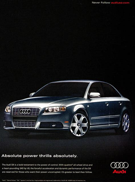 audi advertisement 2005 audi s4 advertisement classic cars today online
