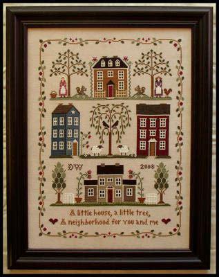 little house needleworks little house needleworks little house neighborhood cross stitch pattern 123stitch com