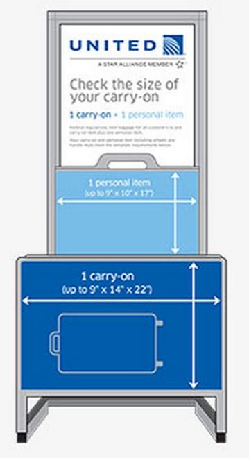 united check bag policy the truth about airline carry on sizers and bag rules