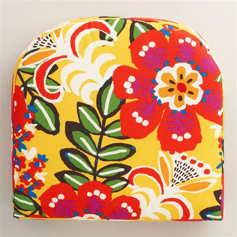Patio Cushions World Market Caribbean Floral Gusseted Outdoor Chair Cushion World Market