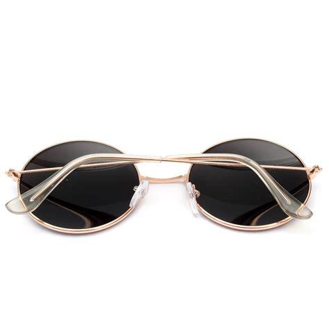 Kacamata 1860 Sunglass Wanita Fashion retro vintage pria wanita kacamata hitam bingkai logam