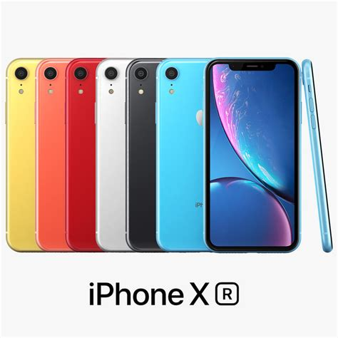 apple iphone xr color 3d turbosquid 1327657
