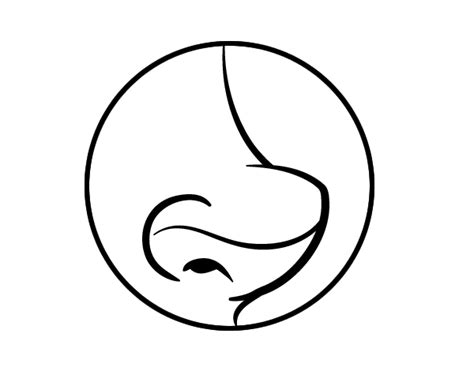 human nose coloring page coloring pages