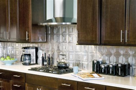 tin tiles for backsplash in kitchen metallaire small panels backsplash metallaire collection