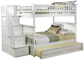 Full Size Bunk Bed With Trundle Columbia Staircase Full Over Full Bunk Bed Raised Panel