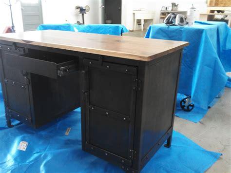 Handmade Industrial Steel & Walnut Desk, Office Furniture