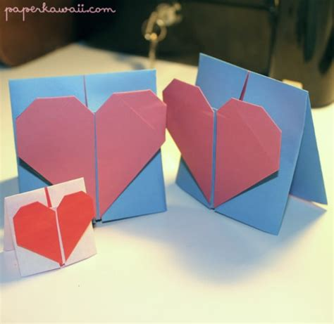 tutorial origami heart box origami valentines day card tutorial paper kawaii