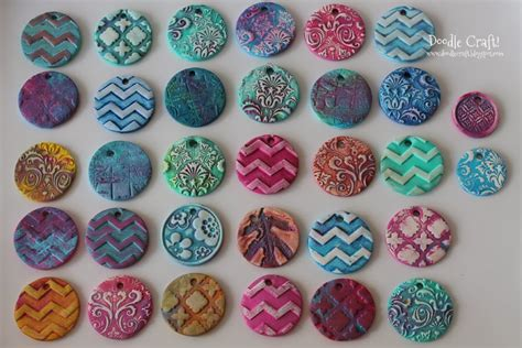 how to make clay pendants for jewelry doodlecraft damask polymer clay pendants