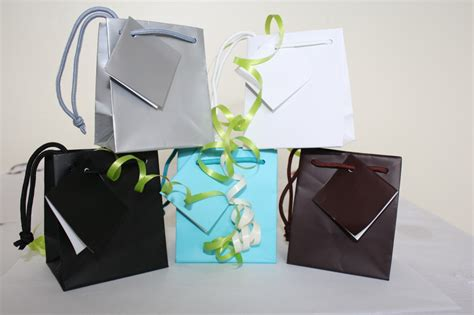 How To Make A Small Paper Gift Bag - small quality gift bags with tag and rope handle