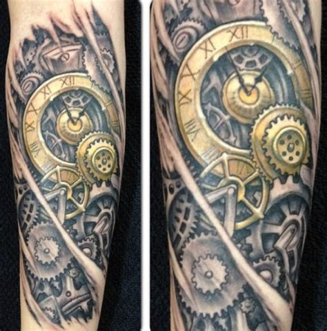 75 steampunk tattoo designs for men masculine machinery