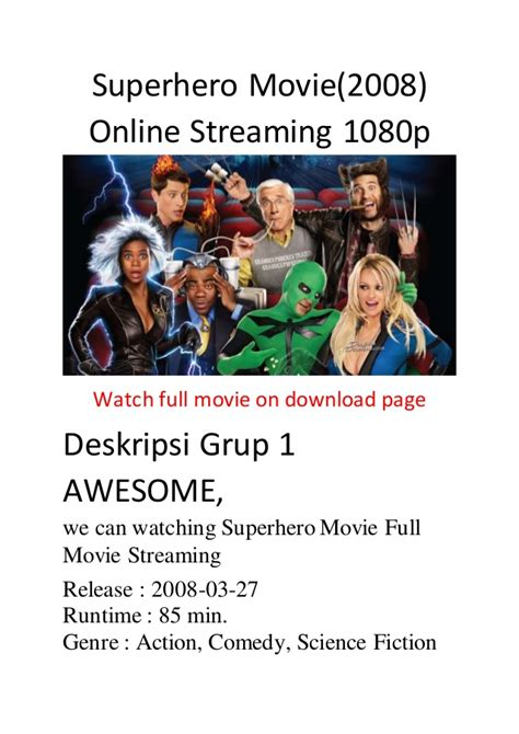 streaming film action comedy superhero movie 2008 online streaming 1080p comedy action