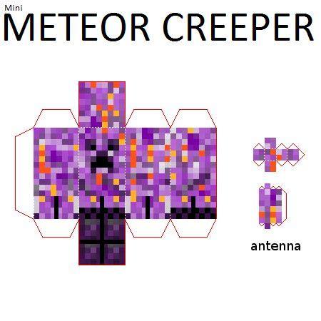 Minecraft Papercraft Mod - papercraft mini meteor creeper falling meteors mod
