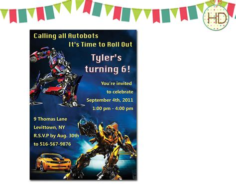 transformer invitation template transformers invitation transformer birthday by hdinvitations