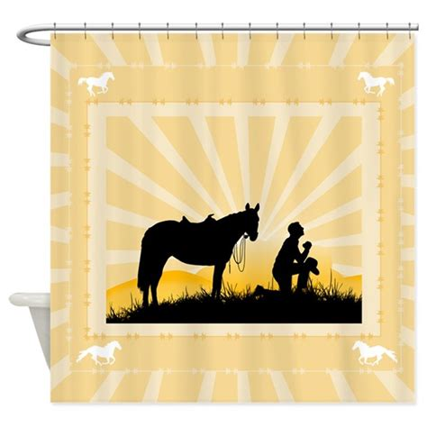religious shower curtains christian cowboy shower curtain by thetshirtpainter