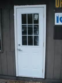 half glass front door exterior door green cground