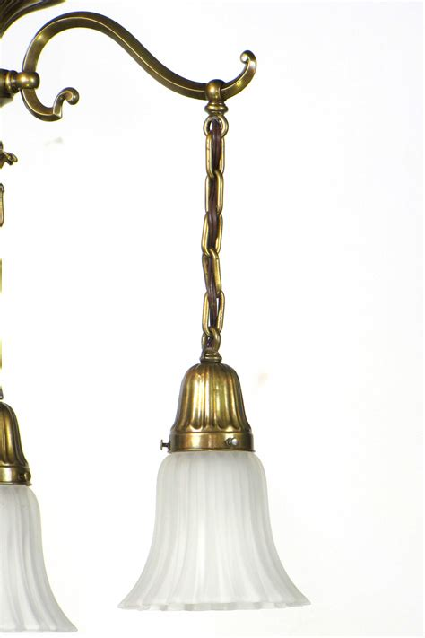 Electrical Lighting Fixtures Early Electric Three Light Fixture Appleton Antique Lighting