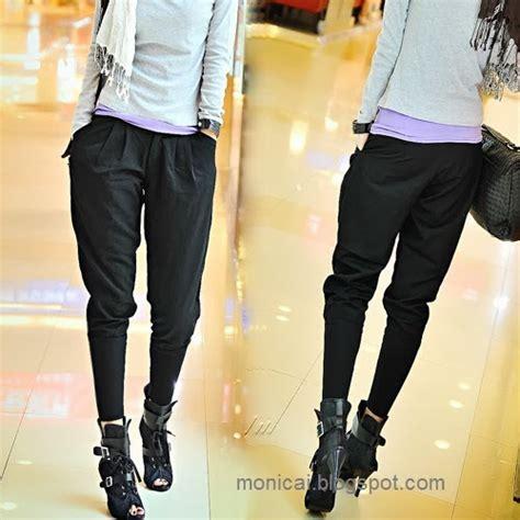 Celana Harem Ala Korea modis dengan model celana harem ala korea