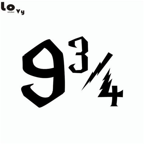 Vinyl Aufkleber Zahlen by Classic Movie Harry Potter Plattform 9 3 4 Viertel Zeichen