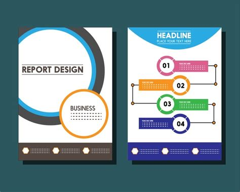 illustrator report templates business report templates circles and infographic styles free vector in adobe illustrator ai
