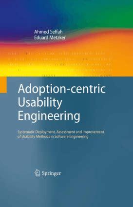 usability engineering books pdf adoption centric usability engineering free pdf books