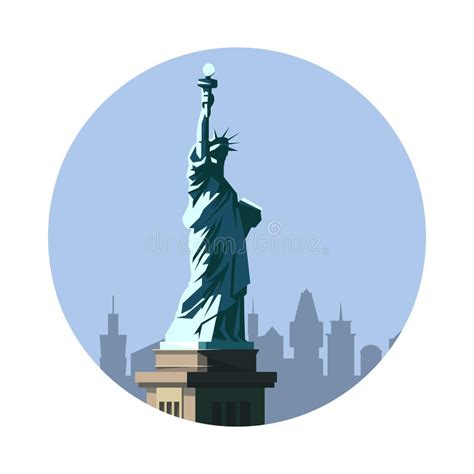 icon design nyc statue of liberty icon american sign stock vector