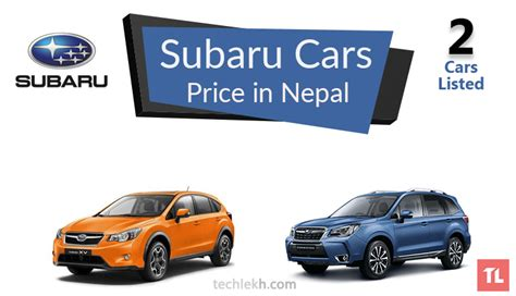 subaru cars prices subaru car price in nepal 2017 subaru cars in nepal
