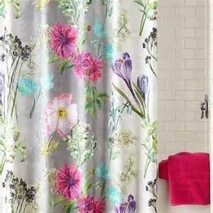 shower curtains floral print purple floral print shower curtain