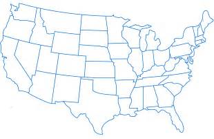 Free United States Map Outline Printable by United States Outline Clipart Best