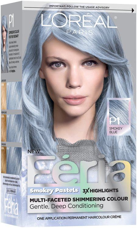 loreal blue hair color best l or 233 al 174 feria 174 smokey pastels p1 smokey blue hair