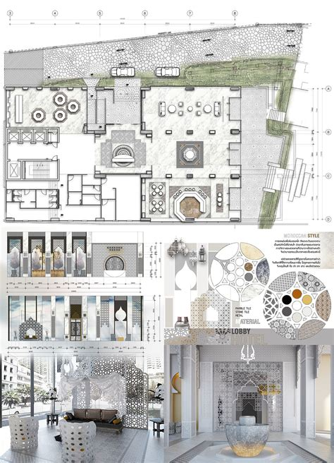 hotel reception design layout lobby hotel in thonglor sketch design re project