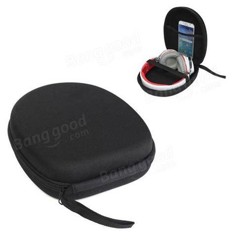 black carrying bag holder headphone earphone