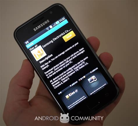 android community samsung kies air adds wireless sync access to galaxy s android community