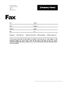 fax coversheet template fax cover sheet templates sle format