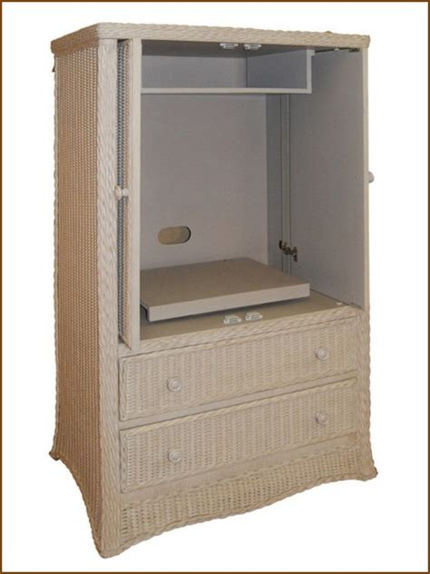 white tv armoire with pocket doors wicker armoire double door wardrobe wicker wardrobe