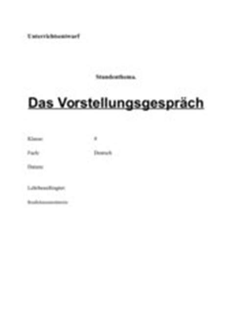 Bewerbungsgesprach Rollenspiel Unterricht 4teachers Lehrproben Unterrichtsentw 252 Rfe Und